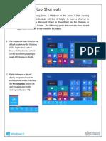 Windows 8 Desktop Shortcuts