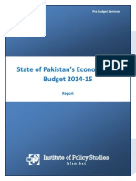 Pre Budget Seminar Report Ips'State of Pakistan's Economy and Budget 2014-15'.