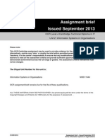 Information Systems in Organisations Assignment Brief