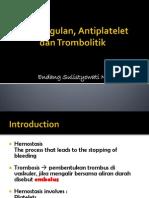 Fibrinolitiktrombolitik, Antikoagulan Dan Antiplatelet