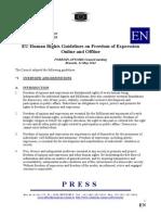 EU Guideline on Freedom of Expresion Online Offline 2014