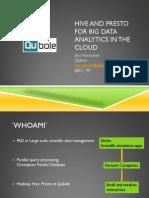 Hive and Presto for Big Data