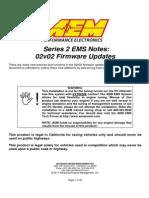 AEM Series 2 EMS Setup Notes -02v02 Firmware Updates