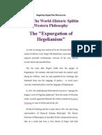 """The """"Expurgation of Hegelianism"""""""