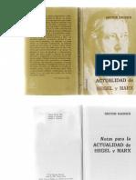 Raurich, Hector - Notas Para La Actualidad de Hegel y Marx Ed. Maymar 1968