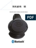 Bluetooth Wireless Earphone Instruction Manual