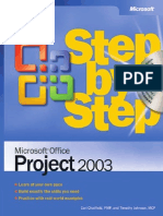 Microsoft Office Project 2003, Step-By-Step