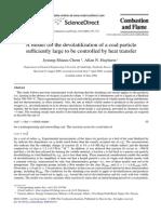 Chern Model Devolatilization Coal Particle