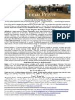 Jumaa Prayer Bulletin 30 May 2014