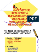 TEHNOL de Realizare a Scheletului Metalic