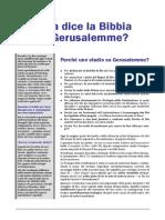 Che cosa dice la Bibbia su Israele e Gerusalemme?