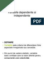 Variabile Dependente Si Independente