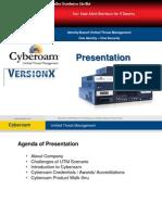 Cyberoam UTM With Version X Presentation Slide - Updated
