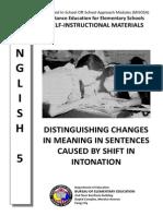 English 5 Distinguishing