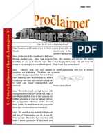 June 2014 Proclaimer