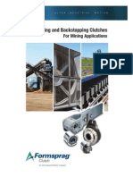 Overrunning and Backstopping Clutches for Mining Applications
