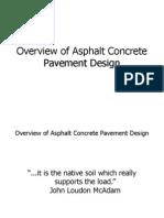 Overview of Asphalt Pavement Design