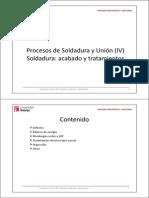 016 Soldadura y Unión (IV) - Soldadura- Acabado y Tratamiento Superficial