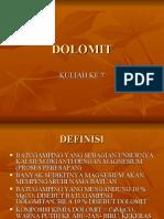 DOLOMIT KULIAH 7