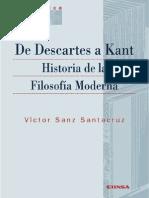 De Descartes a Kant. Historia de La Filosofía Moderna (3era Ed.) - Sanz Santacruz, Víctor