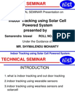 Indoor Tracking Using Solar Cell Powered System