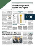 Solo Hay 16 Universidadesperuanas Entre Las 300 Mejores Del La Region