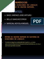 SISTEMAS DE ECUACIONES NO LINEALES POR EL MÉTODO DE NEWTON RAPHSON.
