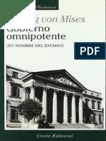 Gobierno Omnipotente en Nombre Del Estado Ludwing Von Mises