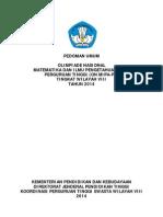 Pedoman Umum Tingkat Wilayah Viii