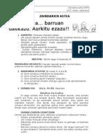 Zaindarien eukaristia 2009