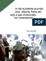 Accidente Auto a Gas