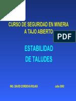 Curso de Seguridad en Mineria a Tajo Abierto