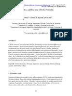 Novel Ultrasonic Dispersion of Carbon Nanotubes