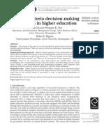 20131120131136l3e_gp_mcdm in Higer Education