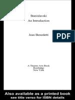 BENEDETTI, Jean - Stanislavski, An Introduction
