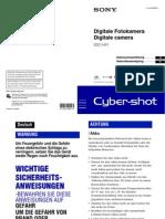 Handleiding Sony Cybershot