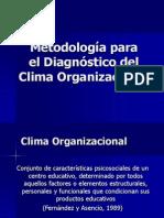 Metodologia Para El Diagnostico Del Clima Organizacional