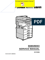 RICOH Aficio-2022 Aficio-2027 Service Manual Pages