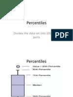 Percentiles and Deciles