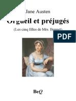 Austen Orgueil Et Prejuges