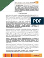 Acuerdo de Distribución de Los Fondos III y IV Del Ramo 33 de 2010