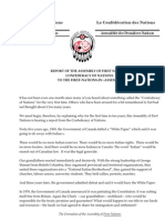 Report of the AFN Confederacy May 27 14