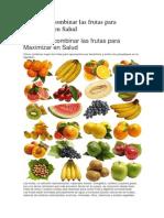 Aprnde a Cmbnar Las Fruts Para Maximizr en Salud