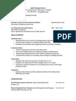 CC Functional Resume