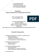 1 Topicos Especiales en Computacion Numerica - Introduccion