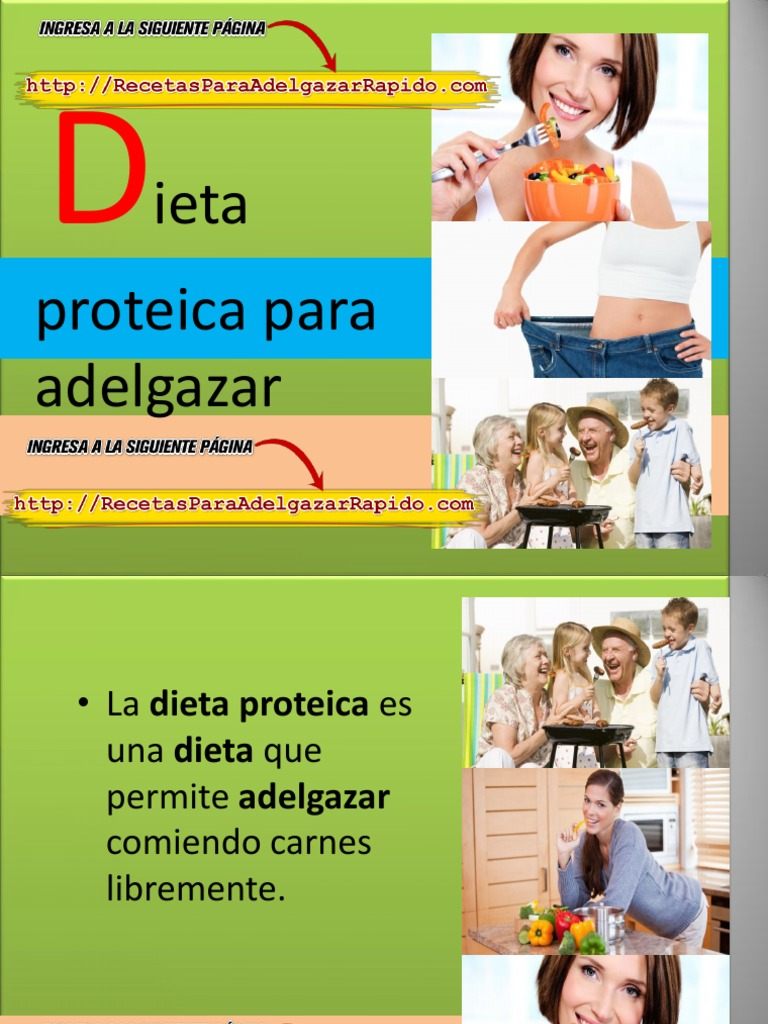 dieta proteica para adelgazar pdf