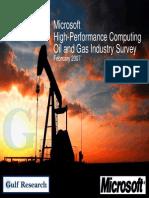 Microsoft HPC Oilgas Survey