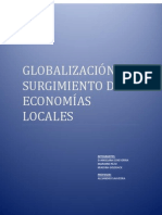 Globalización y Surgimiento de Economías Locales