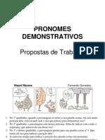 Pronomes Demonstrativos - Propostas de Trabalho