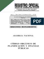 Codigo Organico de Planificacion